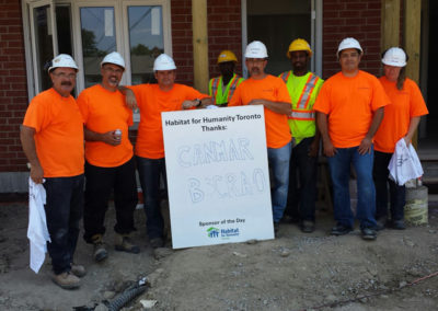 August 2013 – CanMar Contracting's Adopt-A-Day with Habitat for Humanity Toronto
